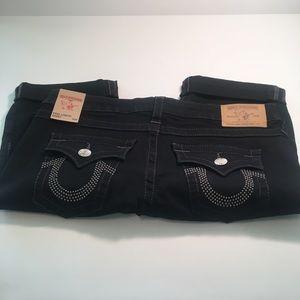 True Religion knee length shorts